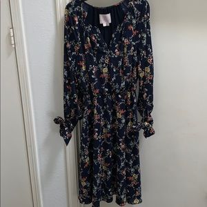 Gal Meets Glam Bonnie Navy Floral Midi Dress 2